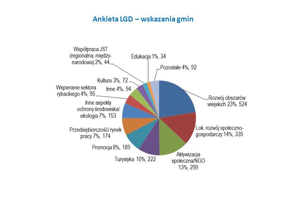 Ankieta LGD – wskazania gmin