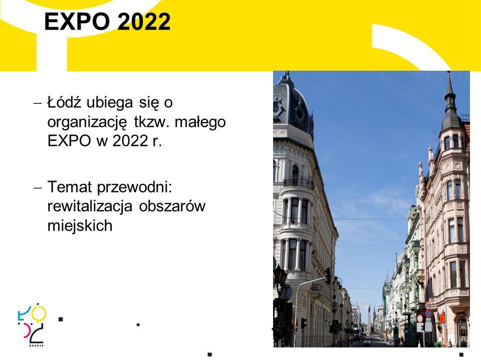 EXPO 2022  Łódź ubiega się o organizację tkzw. małego EXPO w 2022 r.