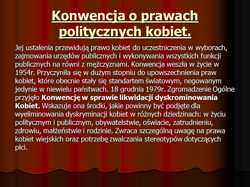 Konwencja o prawach politycznych kobiet.