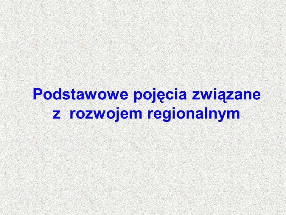 Podstawowe pojęcia związane z rozwojem regionalnym