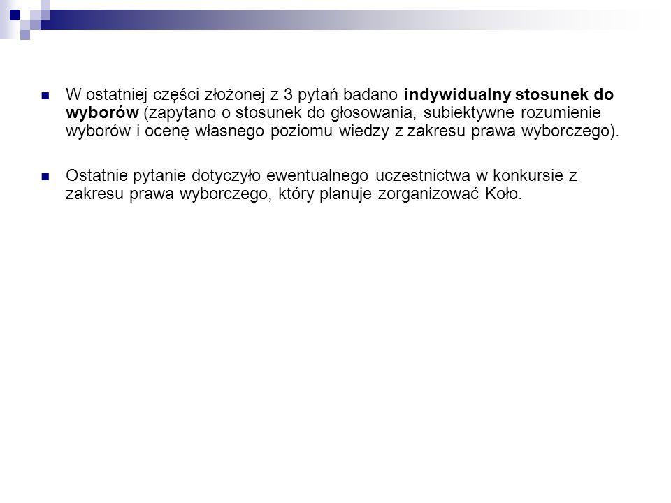 III.Udzielone odpowiedzi Badanych podzielono na dwie grupy osób.