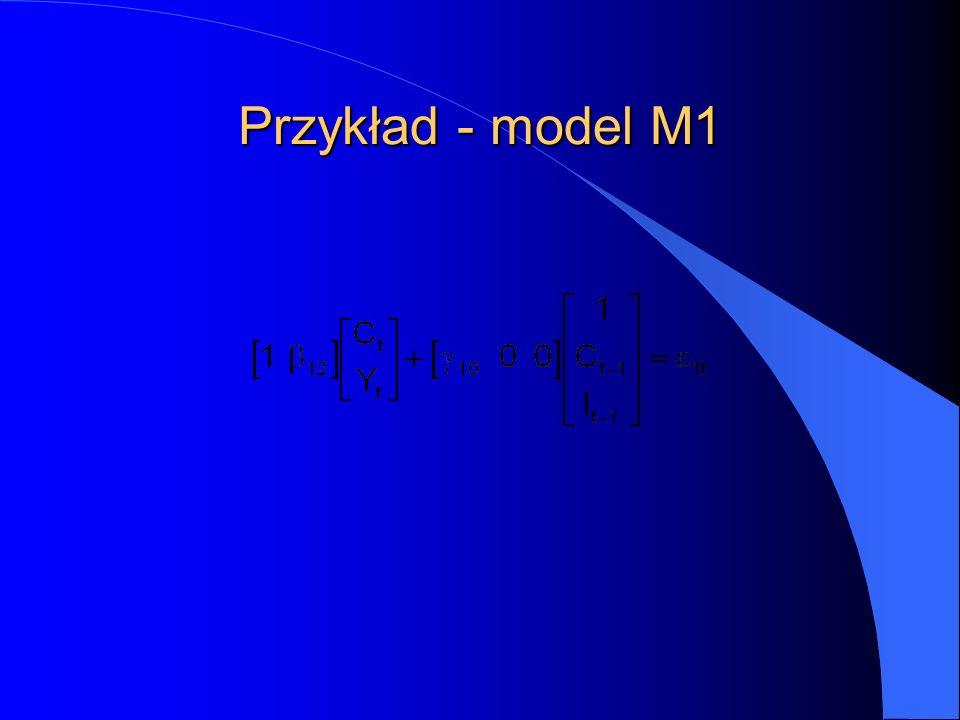 Przykład - model M1