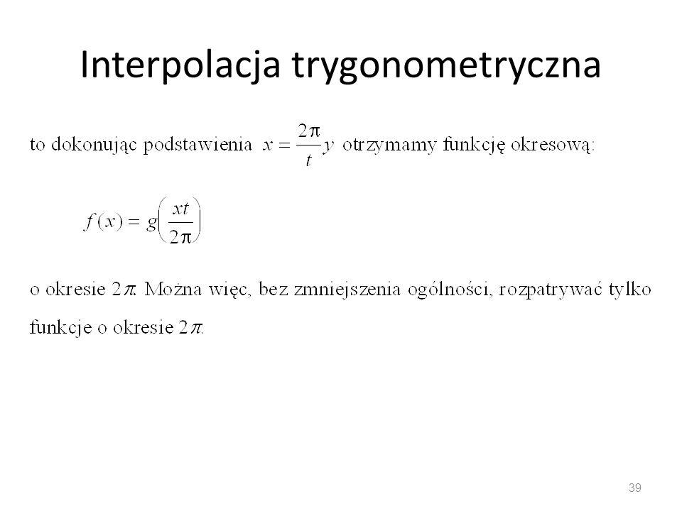 Interpolacja trygonometryczna 39
