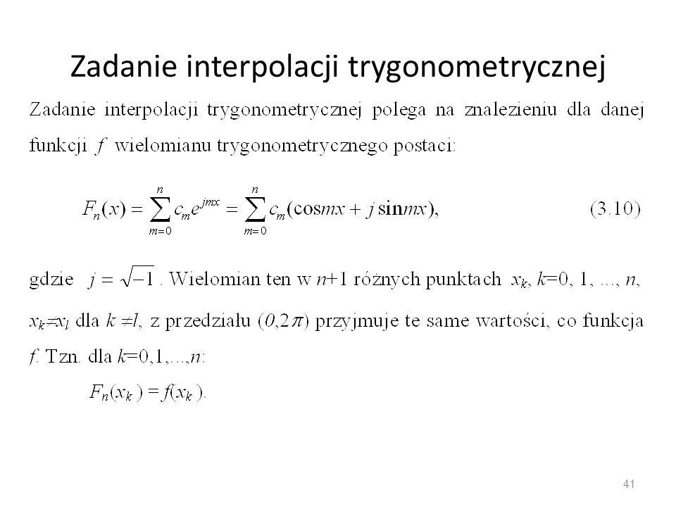 Zadanie interpolacji trygonometrycznej 41