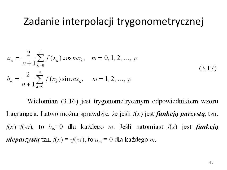 Zadanie interpolacji trygonometrycznej 43