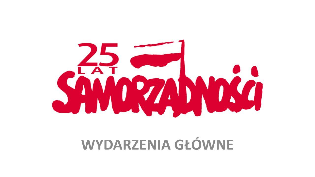 """31 grudnia / 1 stycznia – INAUGURACJA – Orędzie Noworoczne Prezydenta RP 5-6 marca – KONGRES XXV-lecia SAMORZĄDU TERYTORIALNEGO, Poznań (Zgromadzenie Ogólne ZW RP, ZPP, ZMP, ZGW RP, UmP, Rada UMP) 9 marca – SPOTKANIE JUBILEUSZOWE XXV-lecia, Warszawa (Pałac Prezydencki) III dekada marca – FDP """"Przyszłość ST w Polsce , Warszawa (Pałac Prezydencki) 27 maja – DZIEŃ SAMORZĄDU TERYTORIALNEGO, Warszawa (Pałac Prezydencki) 25-26 lipca – ŚWIĘTO PATRONKI ST - ŚW."""