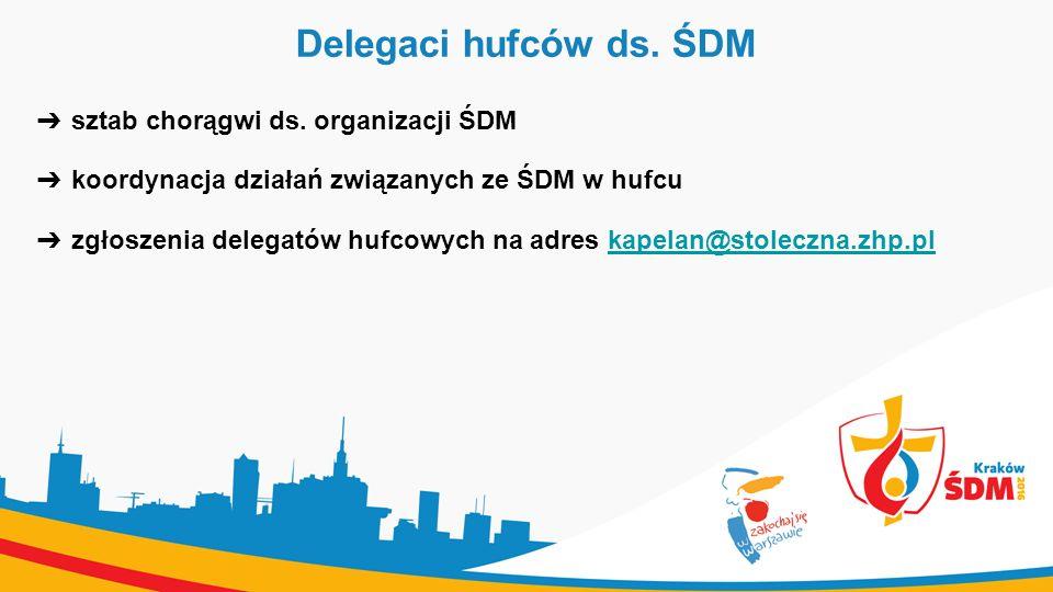 Delegaci hufców ds. ŚDM ➔ sztab chorągwi ds.