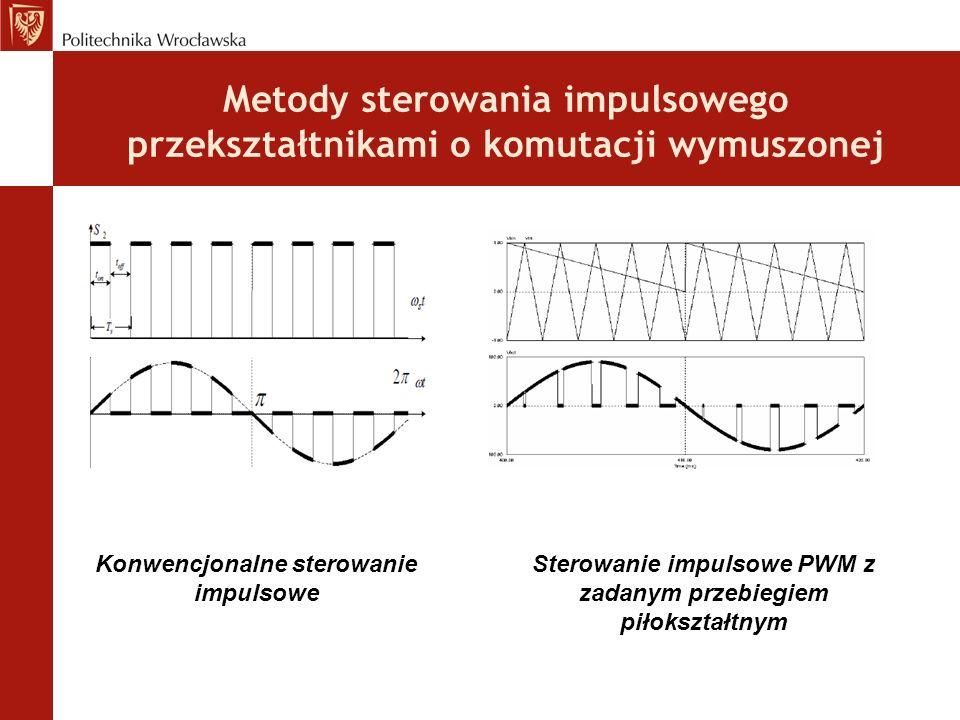 Metody sterowania impulsowego przekształtnikami o komutacji wymuszonej Konwencjonalne sterowanie impulsowe Sterowanie impulsowe PWM z zadanym przebiegiem piłokształtnym