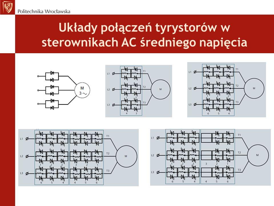 Układy połączeń tyrystorów w sterownikach AC średniego napięcia
