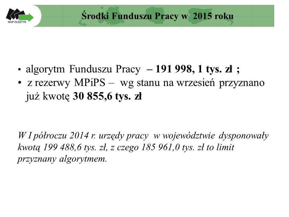 algorytm Funduszu Pracy – 191 998, 1 tys.