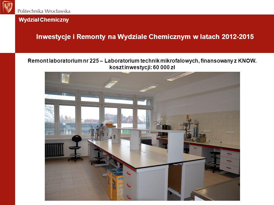 Remont laboratorium nr 225 – Laboratorium technik mikrofalowych, finansowany z KNOW.