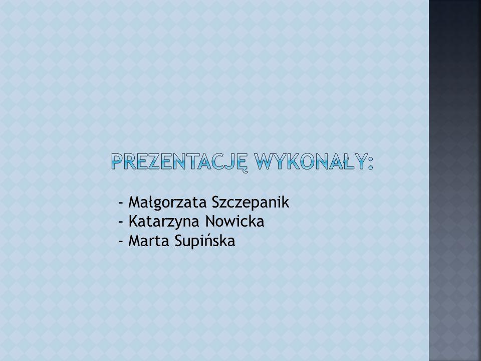 - Małgorzata Szczepanik - Katarzyna Nowicka - Marta Supińska