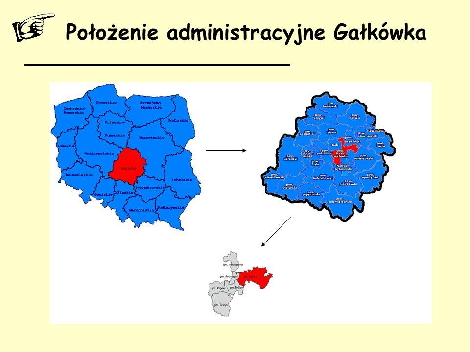 Położenie administracyjne Gałkówka