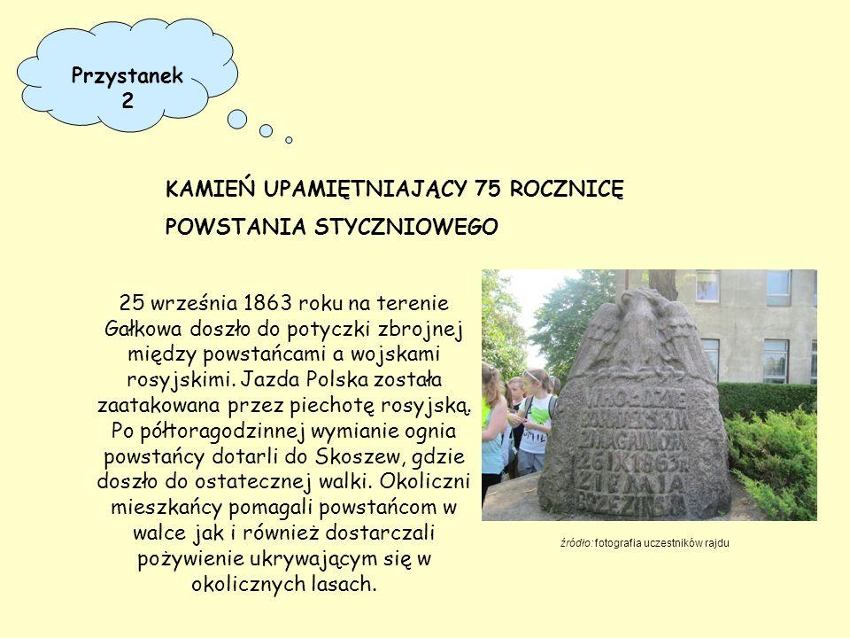 25 września 1863 roku na terenie Gałkowa doszło do potyczki zbrojnej między powstańcami a wojskami rosyjskimi. Jazda Polska została zaatakowana przez