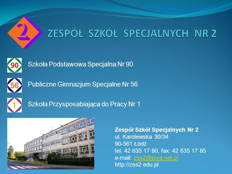 Szkoła Podstawowa Specjalna Nr 90 Publiczne Gimnazjum Specjalne Nr 56 Szkoła Przysposabiająca do Pracy Nr 1 Zespół Szkół Specjalnych Nr 2 ul. Karolews
