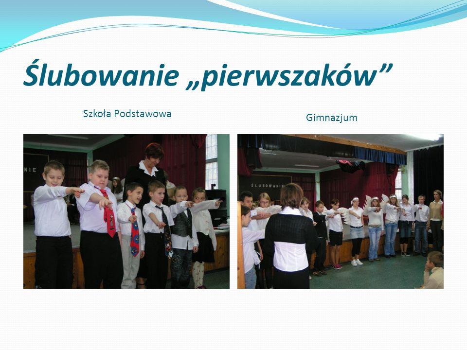 """Ślubowanie """"pierwszaków"""" Szkoła Podstawowa Gimnazjum"""