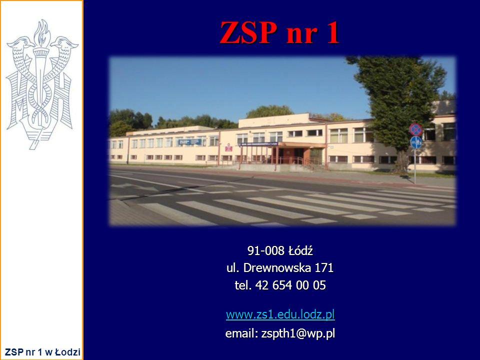 ZSP nr 1 ZSP nr 1 w Łodzi 91-008 Łódź ul. Drewnowska 171 tel.