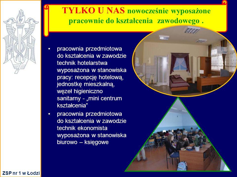 TYLKO U NAS nowocześnie wyposażone pracownie do kształcenia zawodowego.