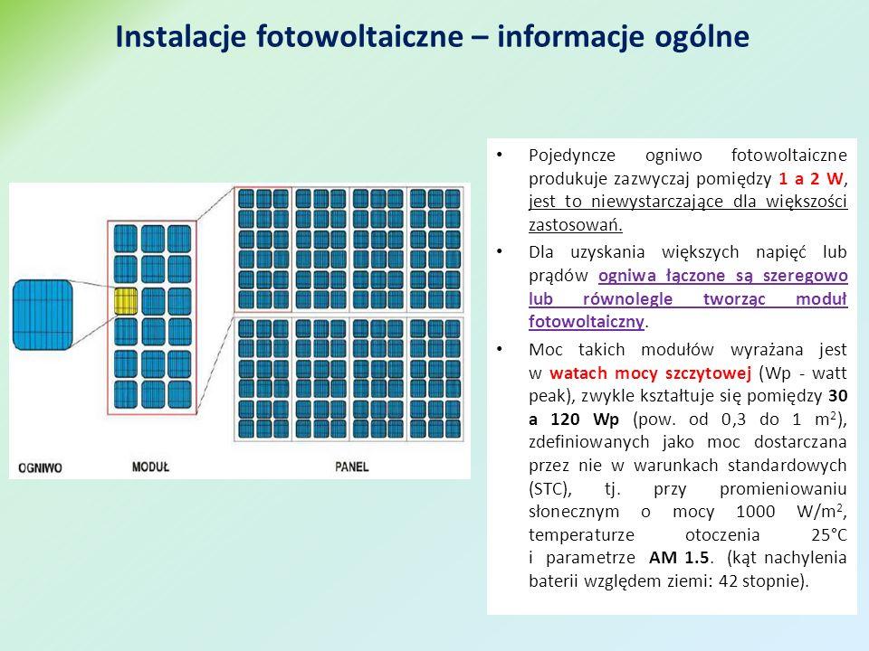 Pojedyncze ogniwo fotowoltaiczne produkuje zazwyczaj pomiędzy 1 a 2 W, jest to niewystarczające dla większości zastosowań.