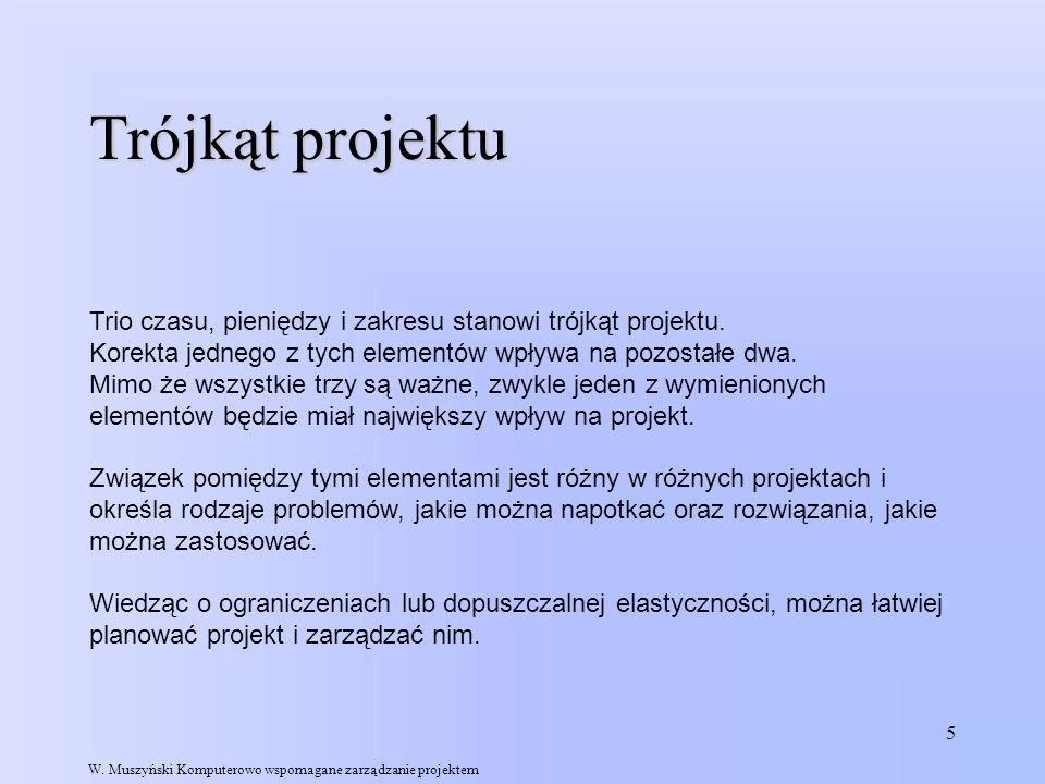 26 Przykładowy projekt Budowa domu Załóżmy, że zadania składające się na projekt są następujące: W.