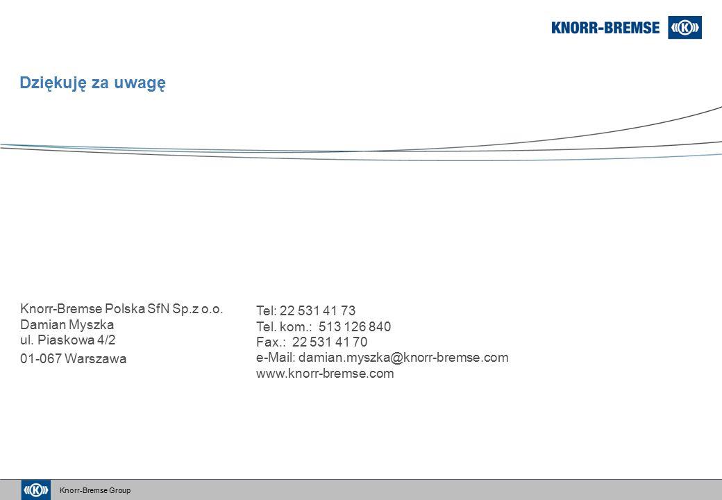 Knorr-Bremse Group Dziękuję za uwagę Knorr-Bremse Polska SfN Sp.z o.o.