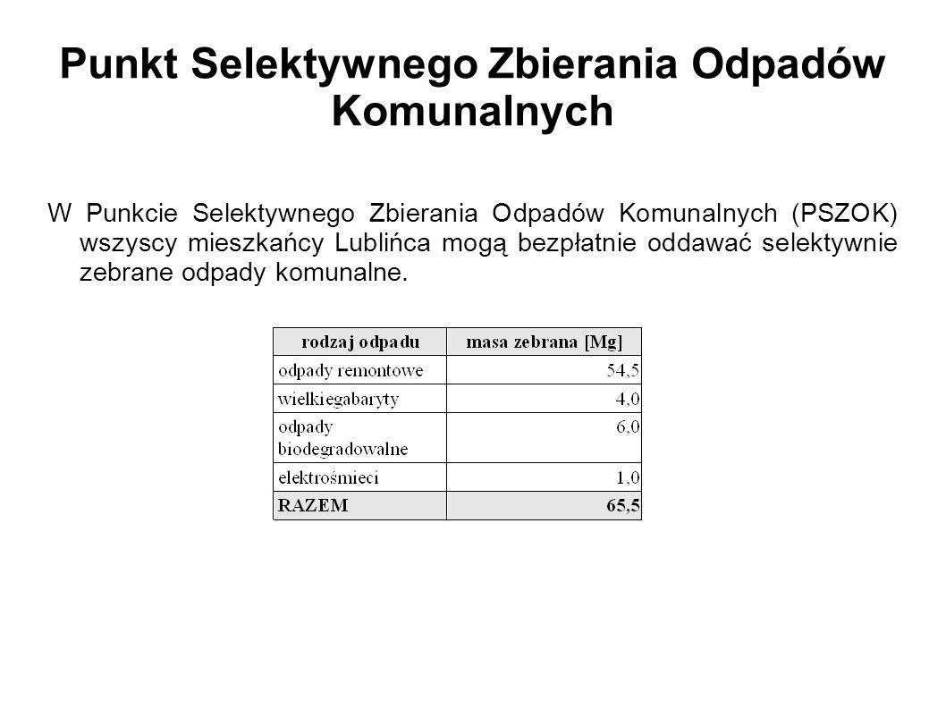 Punkt Selektywnego Zbierania Odpadów Komunalnych W Punkcie Selektywnego Zbierania Odpadów Komunalnych (PSZOK) wszyscy mieszkańcy Lublińca mogą bezpłat