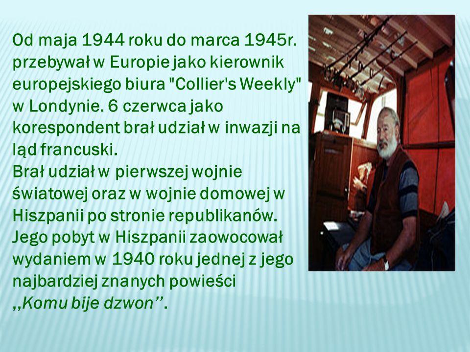 Od maja 1944 roku do marca 1945r.