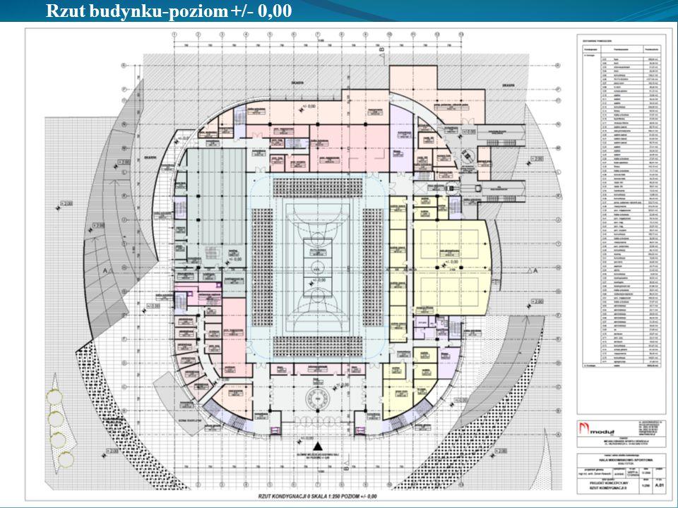 Funkcjonalność obiektu: wym.płyty boiska 42,20m x 57,20m po rozłożeniu dostawek wym.