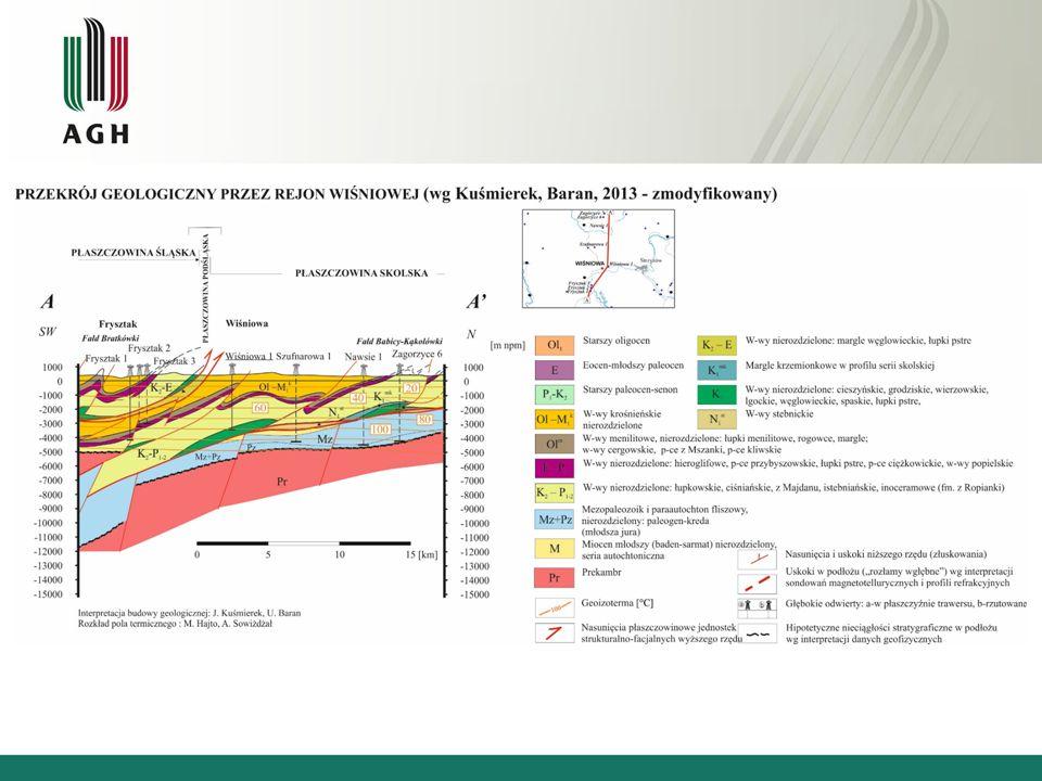 Profil geologiczny w otworze Wiśniowa-1 Otwór poszukiwawczy Wiśniowa-1 został zaprojektowany do głębokości 5500 m ppt.