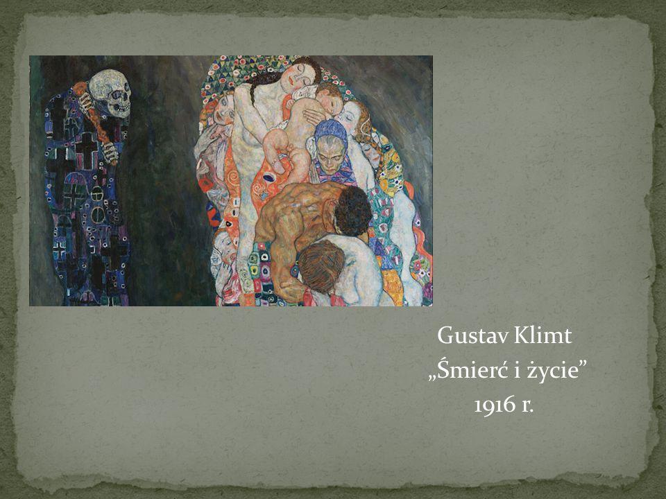 """Gustav Klimt """"Śmierć i życie 1916 r."""