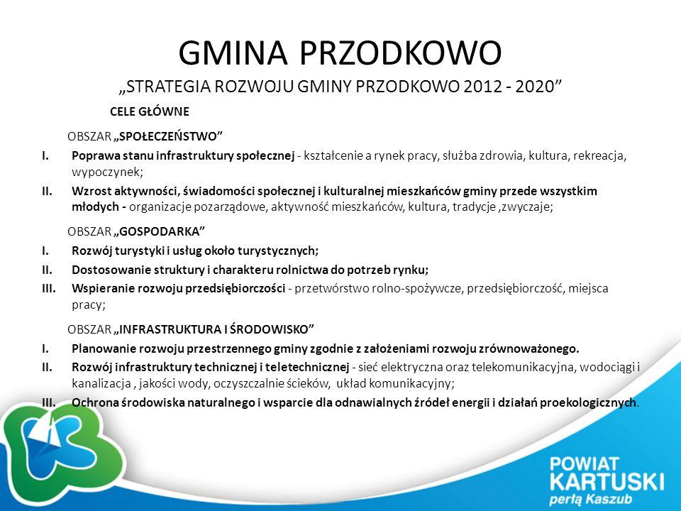"""GMINA PRZODKOWO """"STRATEGIA ROZWOJU GMINY PRZODKOWO 2012 - 2020"""" CELE GŁÓWNE OBSZAR """"SPOŁECZEŃSTWO"""" I.Poprawa stanu infrastruktury społecznej - kształc"""