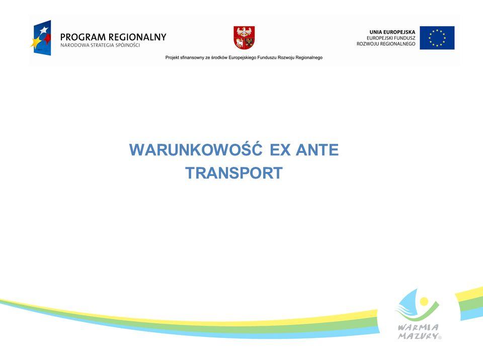 WARUNKOWOŚĆ EX ANTE TRANSPORT