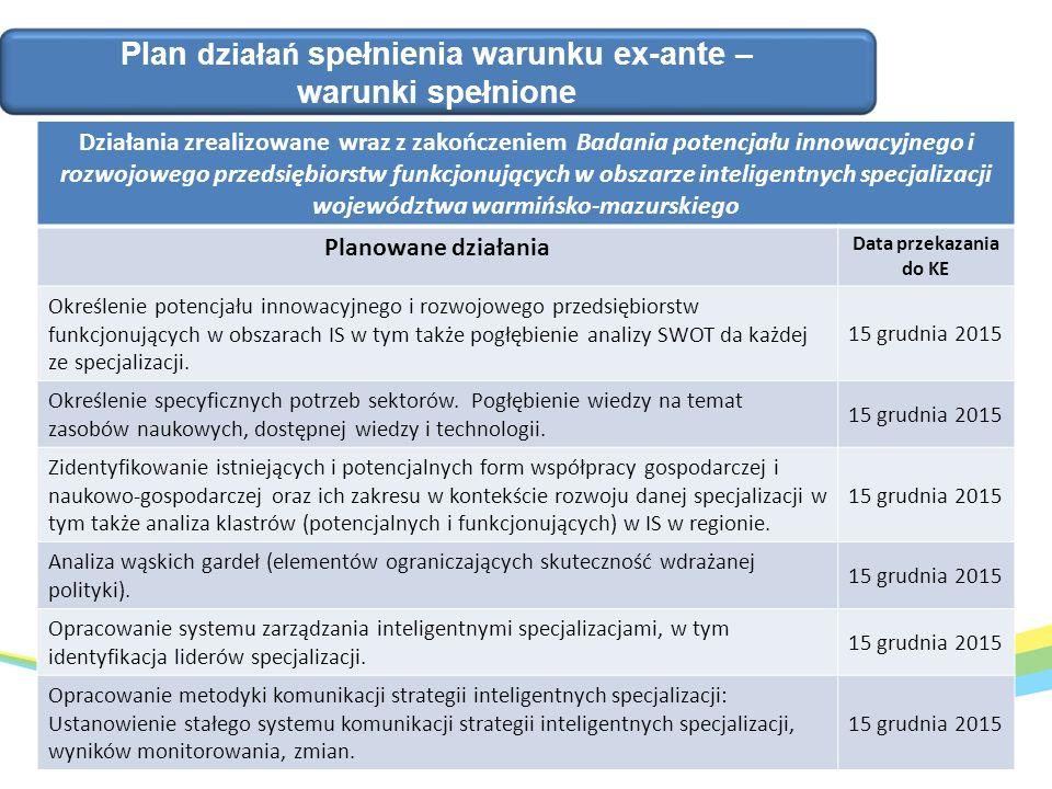 1.Ustanowienie Komitetu Sterującego (KS) - spełnione.