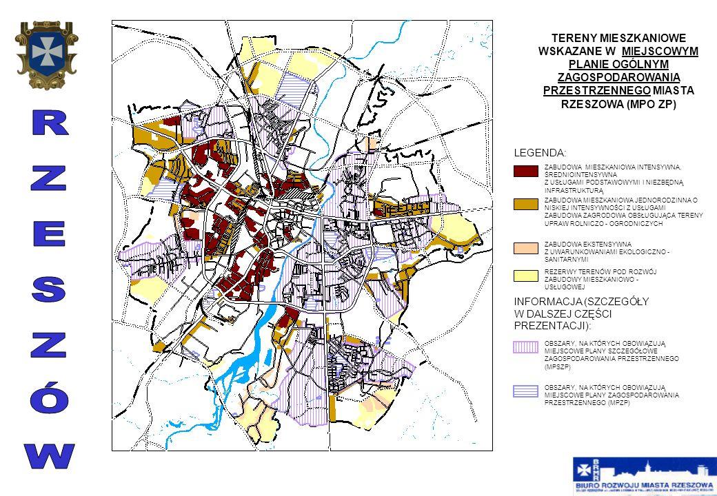 MIEJSCOWY PLAN OGÓLNY ZAGOSPODAROWANIA PRZESTRZENNEGO Podstawowym dokumentem służącym regulacji procesów gospodarki przestrzennej w mieście, jest Miejscowy Plan Ogólny Zagospodarowania Przestrzennego miasta Rzeszowa uchwalony przez Radę Miasta Rzeszowa Uchwałą Nr XXXV/33/92 z dnia 23 czerwca 1992 r., ogłoszoną w dzienniku Urzędowym Województwa Rzeszowskiego Nr 9, poz.