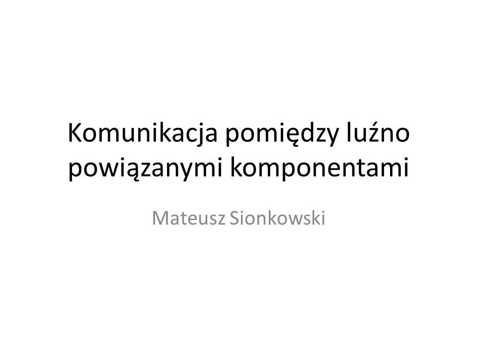 Komunikacja pomiędzy luźno powiązanymi komponentami Mateusz Sionkowski