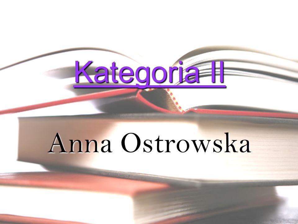 Kategoria II Anna Ostrowska
