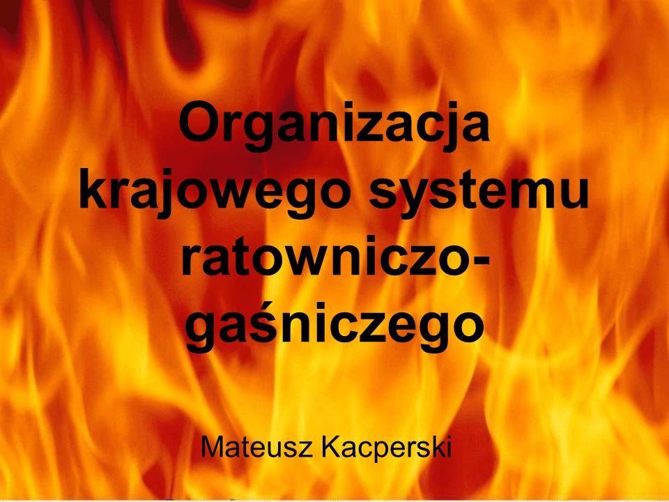 Organizacja krajowego systemu ratowniczo- gaśniczego Mateusz Kacperski