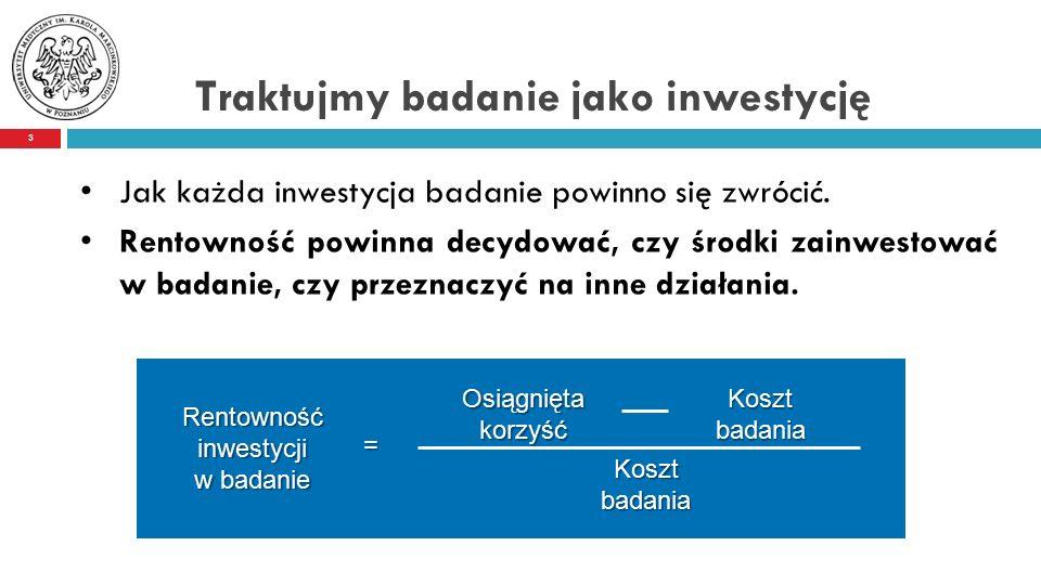 Jak każda inwestycja badanie powinno się zwrócić.