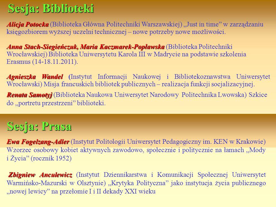 Ewa Fogelzang-Adler Ewa Fogelzang-Adler (Instytut Politologii Uniwersytet Pedagogiczny im. KEN w Krakowie) Wzorzec osobowy kobiet aktywnych zawodowo,