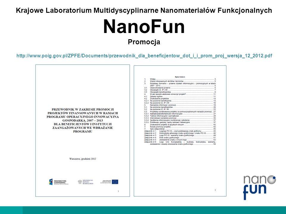 Krajowe Laboratorium Multidyscyplinarne Nanomateriałów Funkcjonalnych NanoFun Promocja
