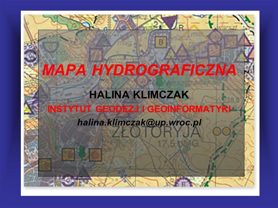 MAPA HYDROGRAFICZNA Treść podkładową stanowią sytuacja i nazewnictwo (w kolorze szarym) oraz rysunek rzeźby terenu (w kolorze brązowym) mapy topograficznej w skali 1:50 000.
