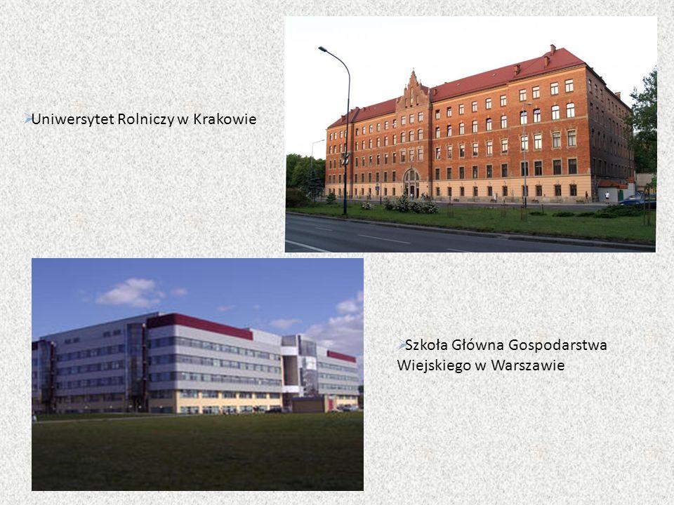  Uniwersytet Rolniczy w Krakowie  Szkoła Główna Gospodarstwa Wiejskiego w Warszawie