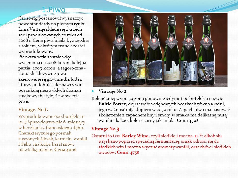 1.Piwo Carlsberg postanowił wyznaczyć nowe standardy na piwnym rynku.