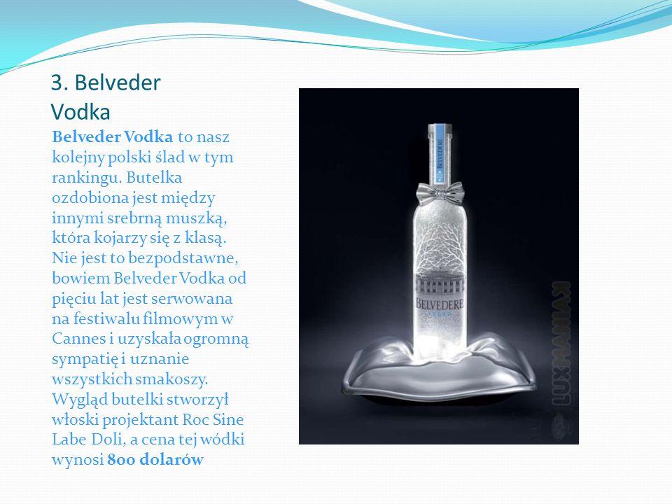 3. Belveder Vodka Belveder Vodka to nasz kolejny polski ślad w tym rankingu.