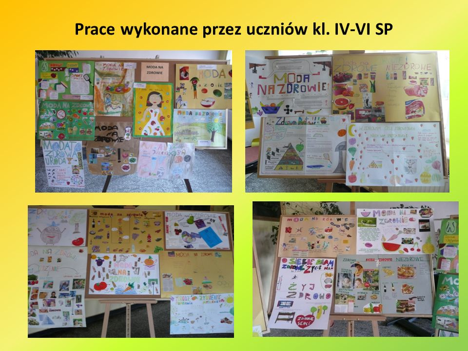 Prace wykonane przez uczniów kl. IV-VI SP