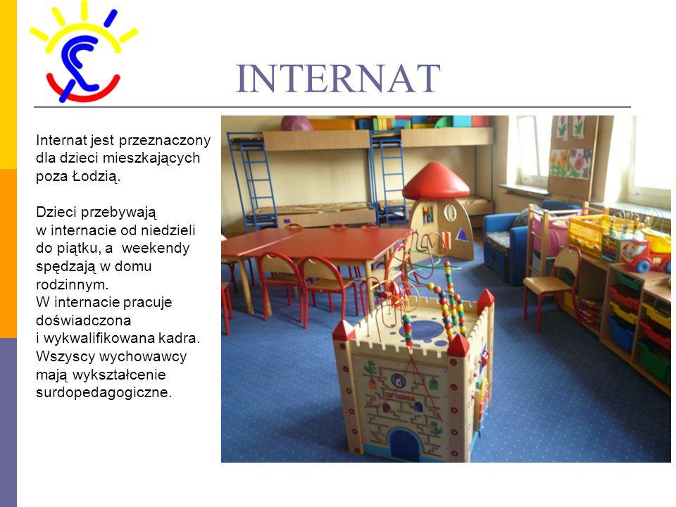 INTERNAT Internat jest przeznaczony dla dzieci mieszkających poza Łodzią.