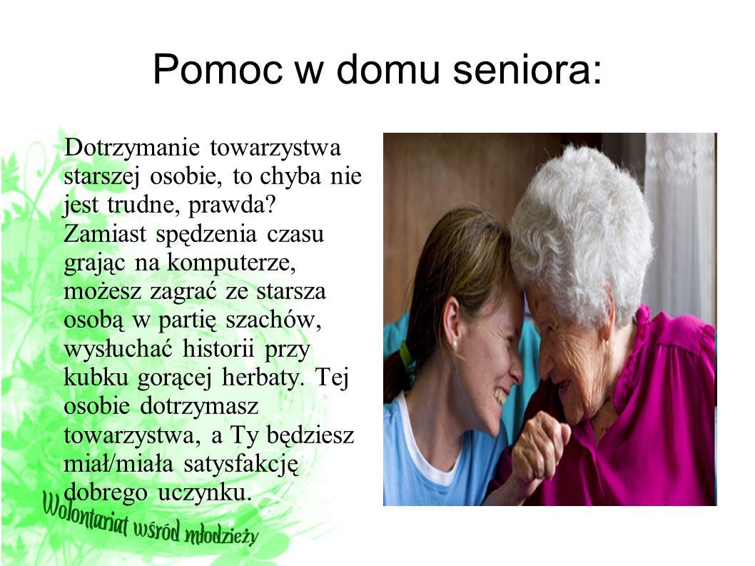 Pomoc w domu seniora: Dotrzymanie towarzystwa starszej osobie, to chyba nie jest trudne, prawda? Zamiast spędzenia czasu grając na komputerze, możesz