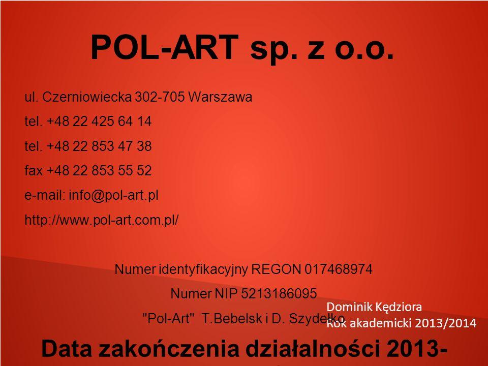 Dominik Kędziora Rok akademicki 2013/2014 POL-ART sp.