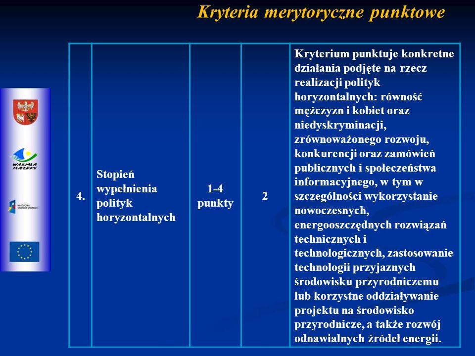 Kryteria merytoryczne punktowe 4.