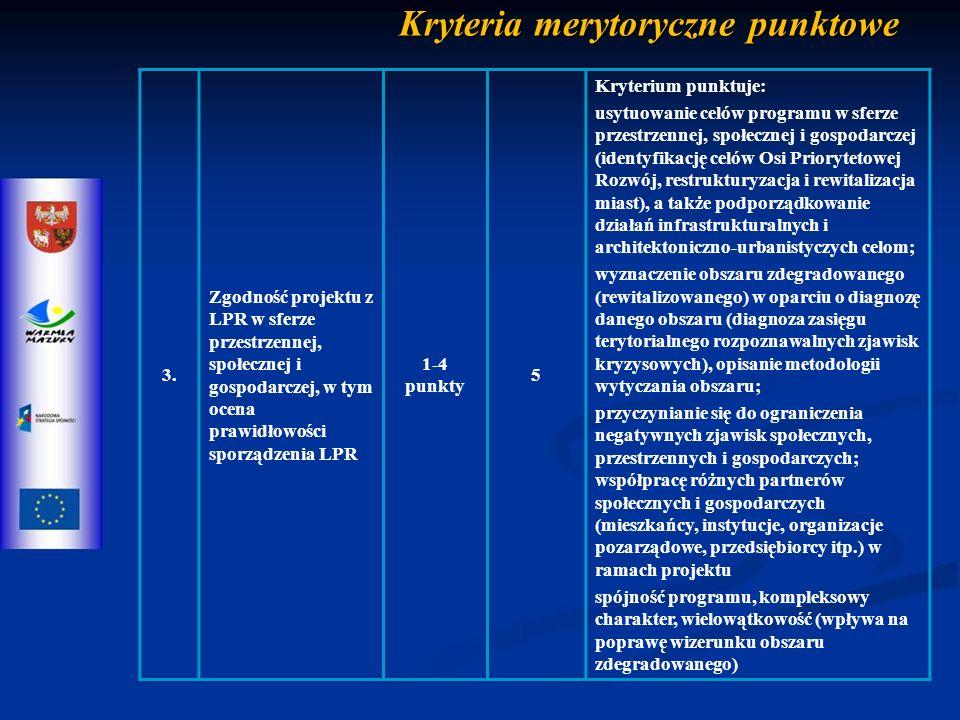 Kryteria merytoryczne punktowe 3.